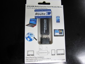 届いたOTG USB Card Reader/Writer